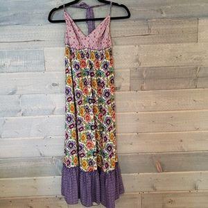 Lucky Brand Boho Floral Halter Neck Sun Dress